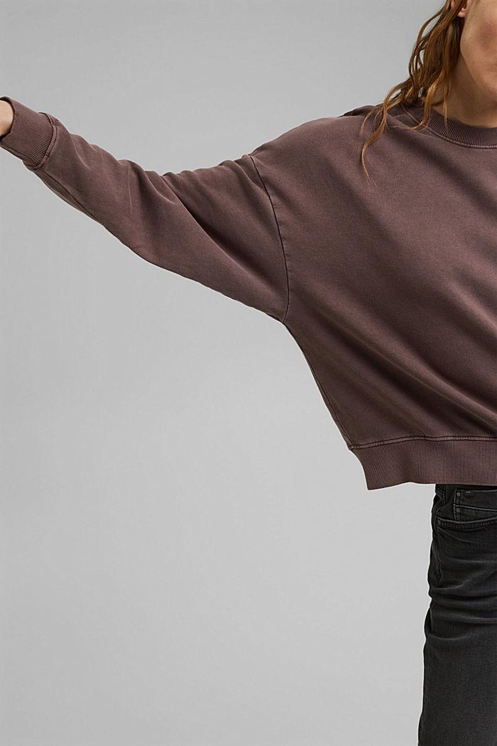 Sweatshirt made of 100% organic cotton, RUST BROWN, detail image number 2