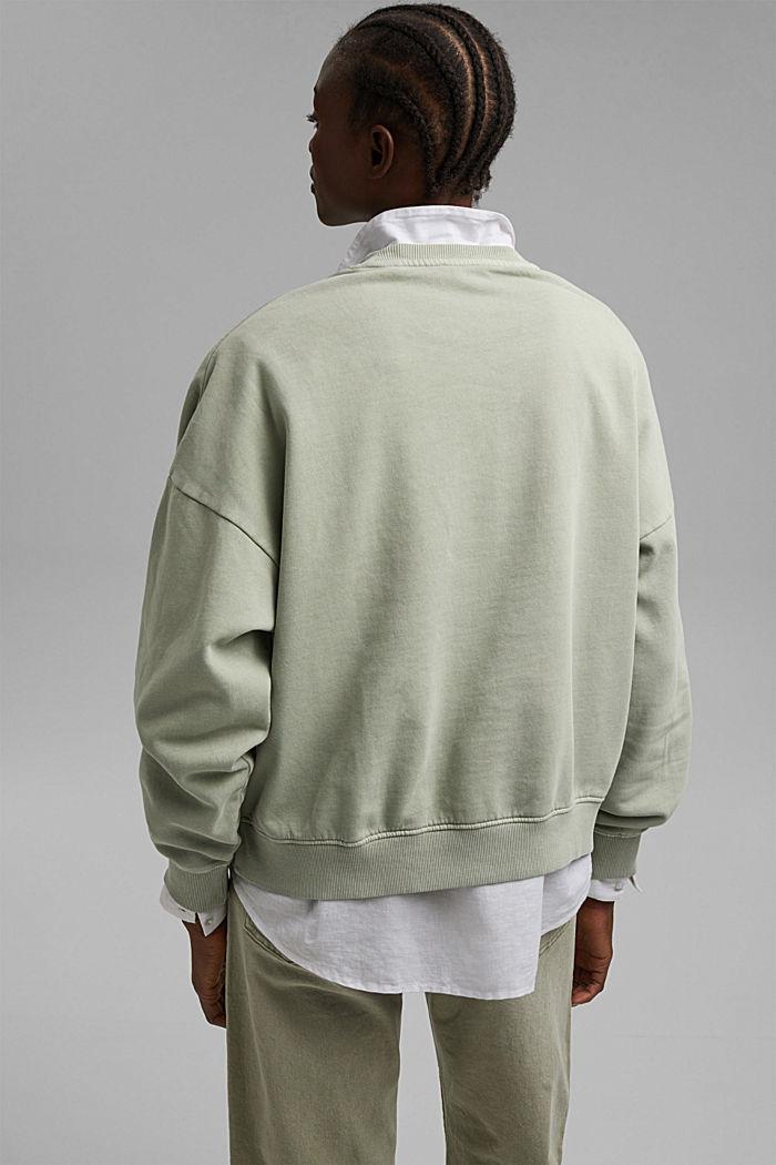 Sweatshirt made of 100% organic cotton, PASTEL GREEN, detail image number 3