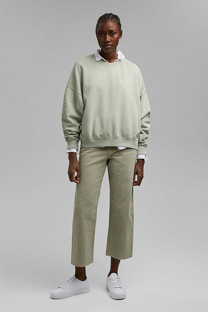 Sweatshirt made of 100% organic cotton, PASTEL GREEN, detail image number 1
