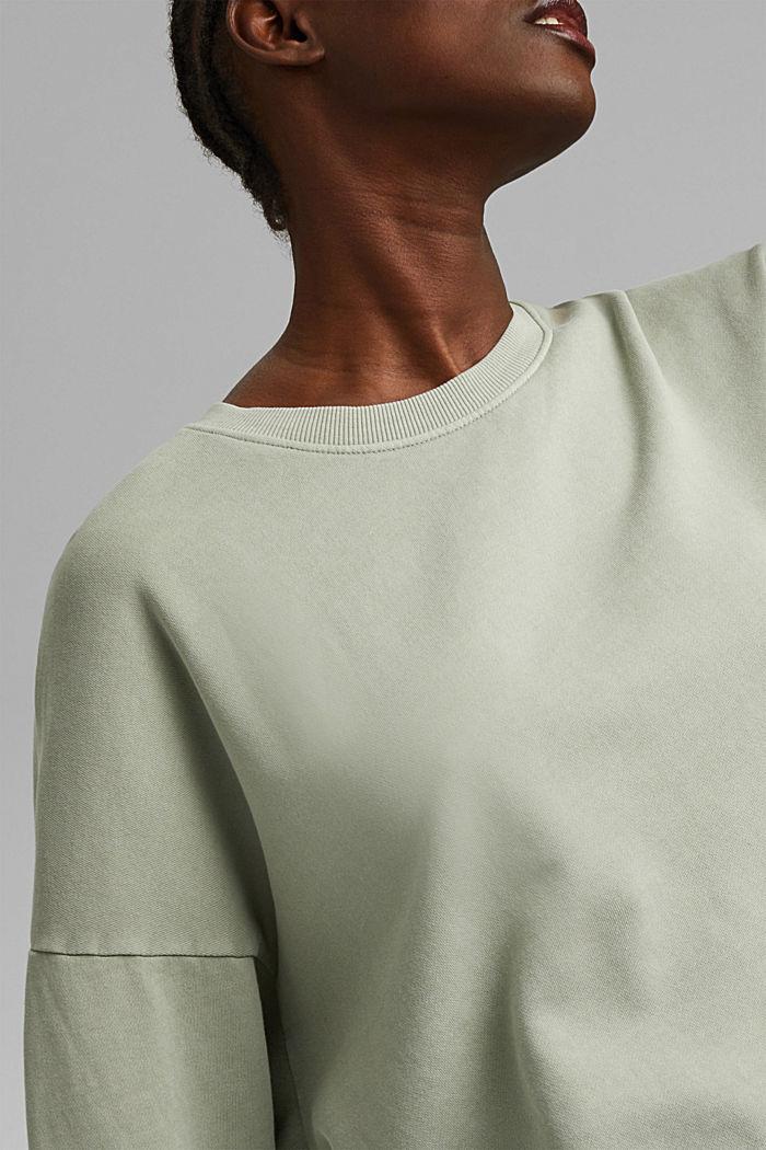 Sweatshirt made of 100% organic cotton, PASTEL GREEN, detail image number 2