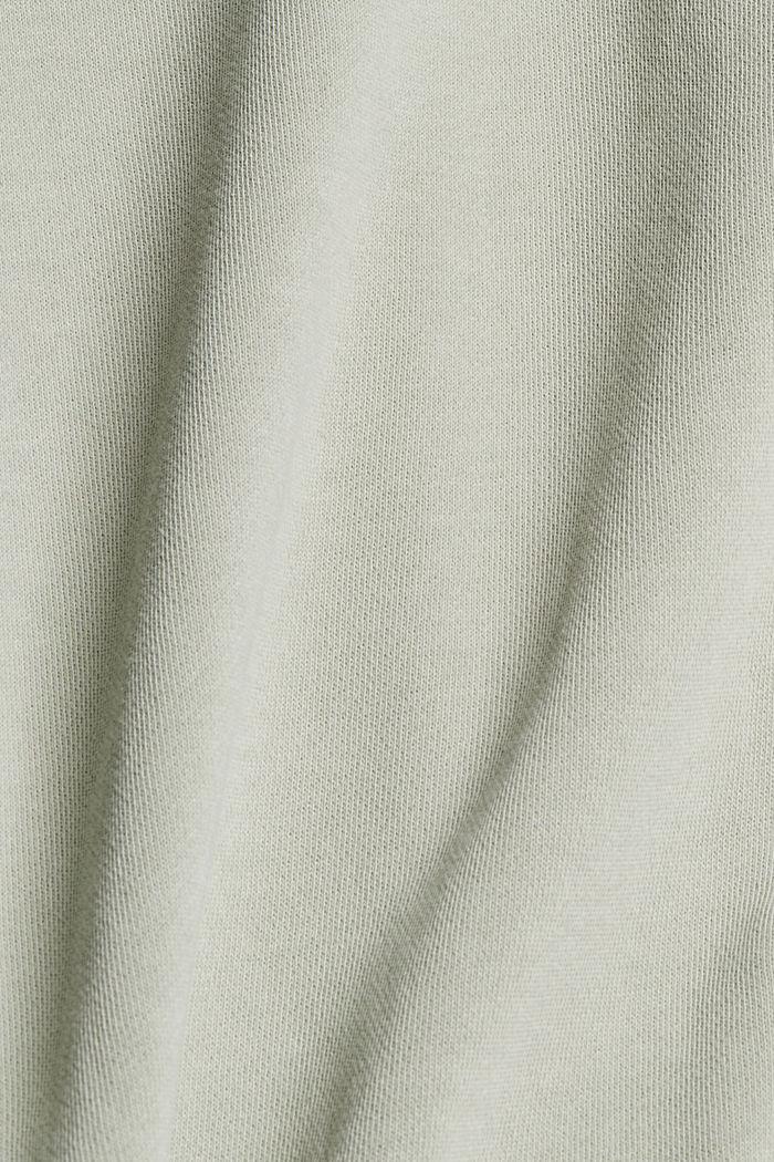 Sweatshirt made of 100% organic cotton, PASTEL GREEN, detail image number 4