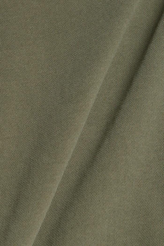 Mikina ze 100% bio bavlny, DARK KHAKI, detail image number 4
