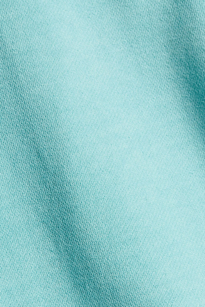Sudadera en 100 % algodón ecológico, TURQUOISE, detail image number 4