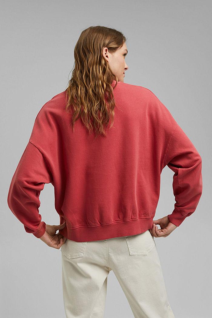 Sweatshirt aus 100% Organic Cotton, RED, detail image number 3