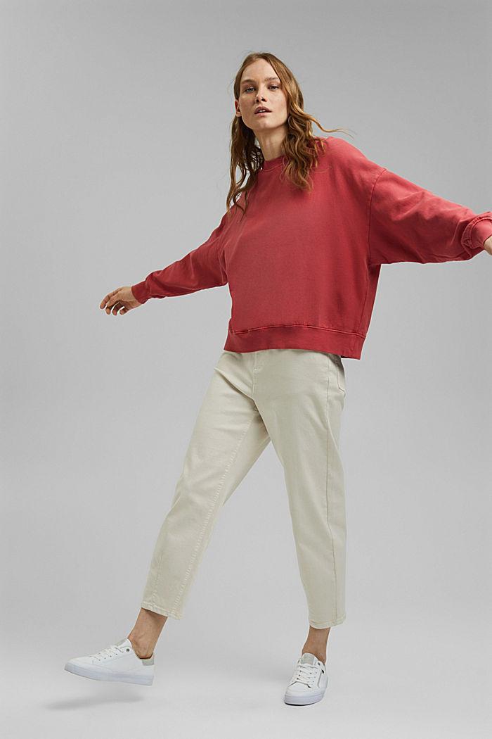 Sweatshirt aus 100% Organic Cotton, RED, detail image number 1