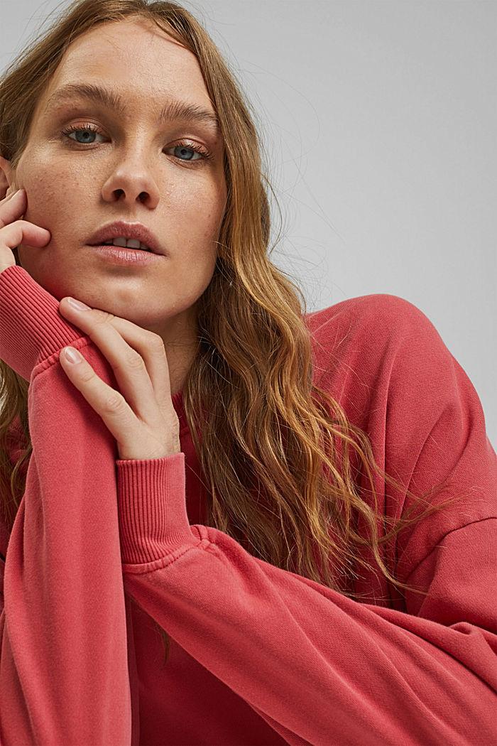 Sweatshirt aus 100% Organic Cotton, RED, detail image number 6