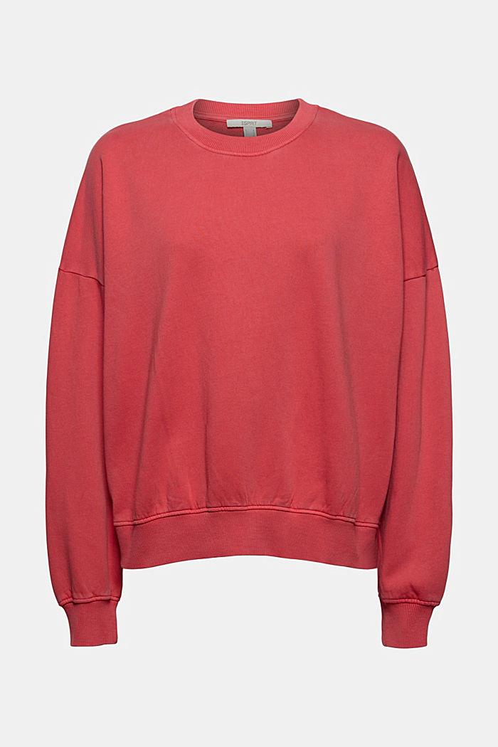 Sweatshirt aus 100% Organic Cotton, RED, detail image number 7