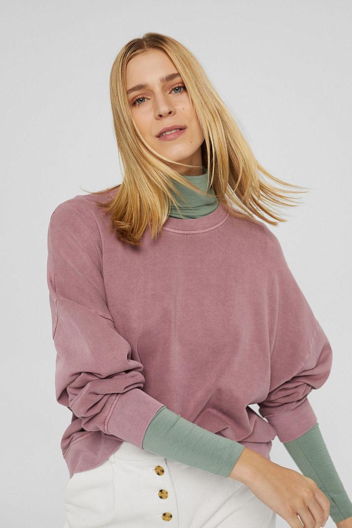 Sweatshirt af 100% økologisk bomuld
