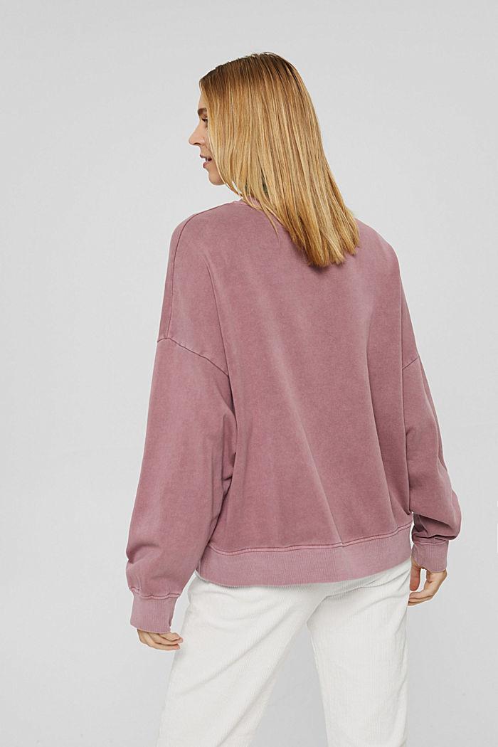 Sweatshirt aus 100% Organic Cotton, DARK OLD PINK, detail image number 3