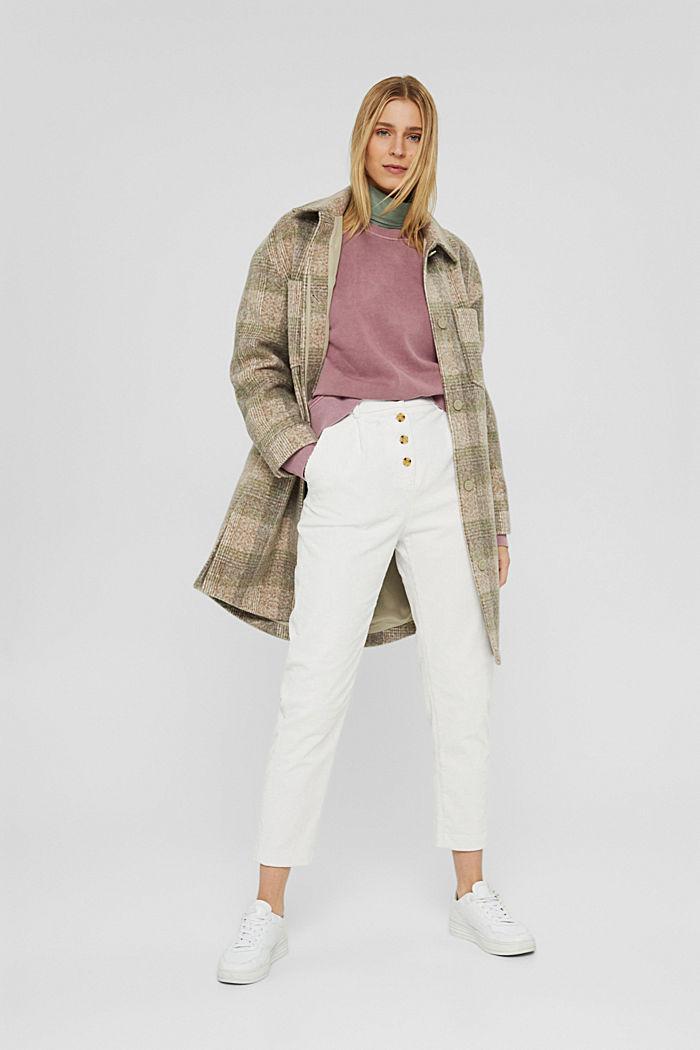 Sweatshirt aus 100% Organic Cotton, DARK OLD PINK, detail image number 1