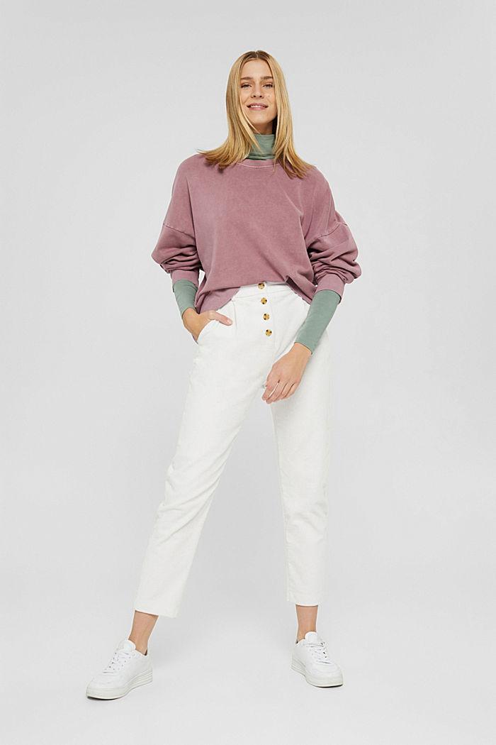 Sweatshirt aus 100% Organic Cotton, DARK OLD PINK, detail image number 4