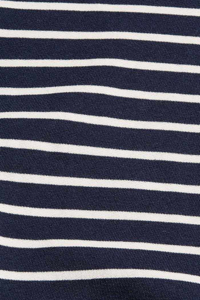 Striped sweatshirt made of 100% organic cotton, NAVY, detail image number 4