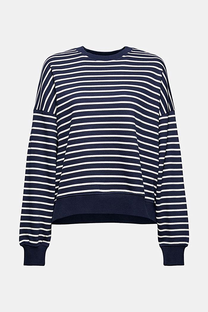 Sweat-shirt à rayures, 100% coton biologique