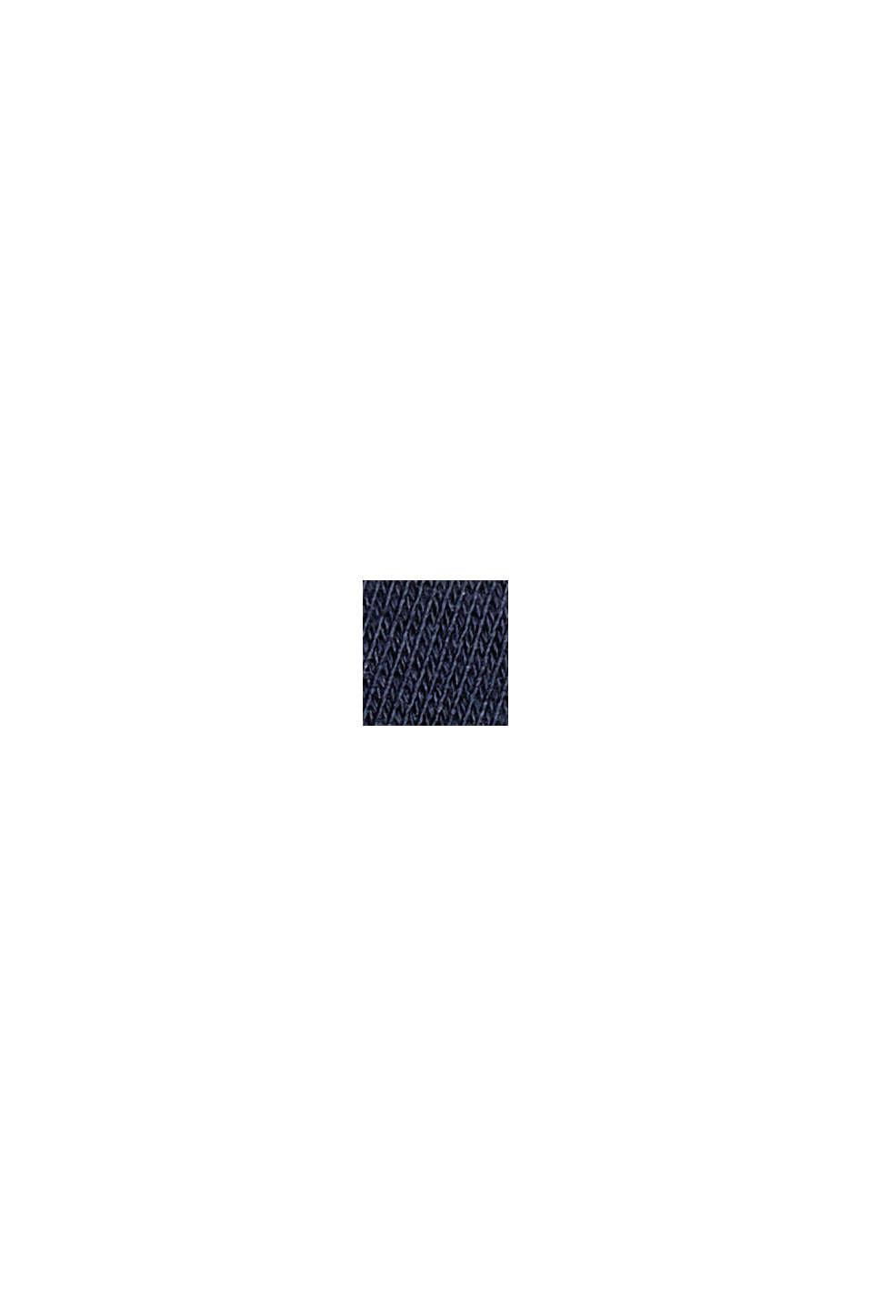Sweat-shirt à rayures, 100% coton biologique, NAVY, swatch