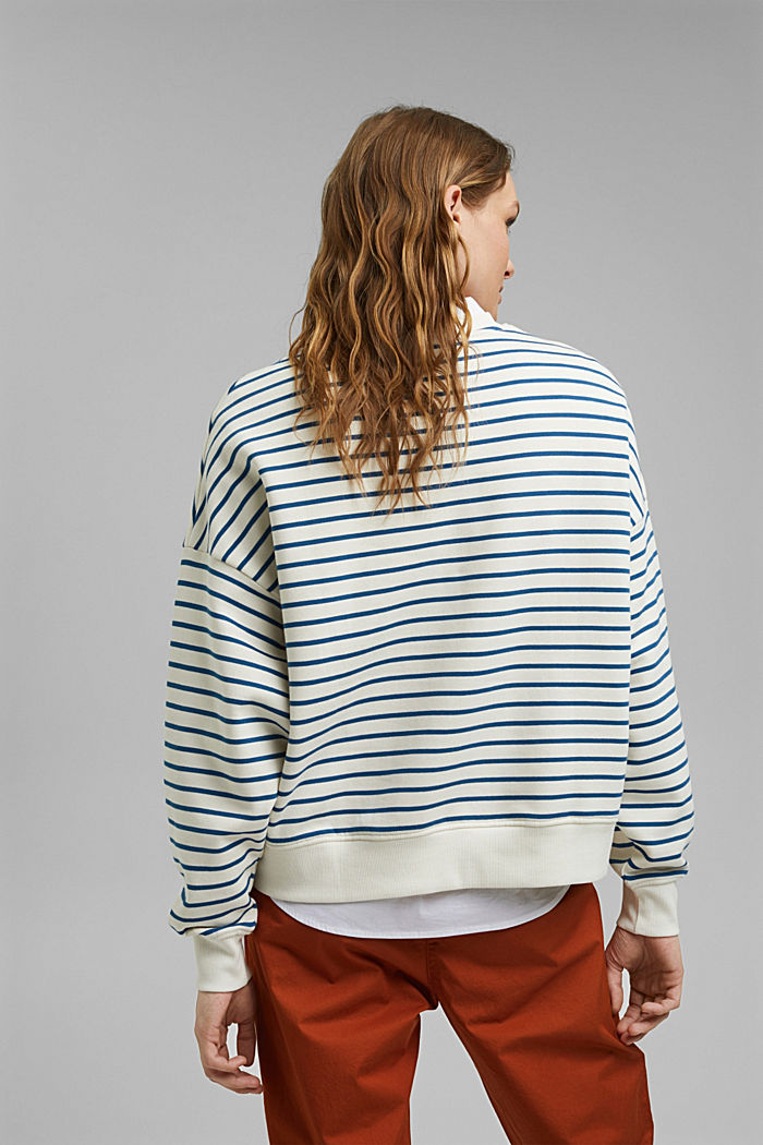 Striped sweatshirt made of 100% organic cotton, BRIGHT BLUE, detail image number 3