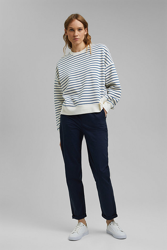 Striped sweatshirt made of 100% organic cotton, BRIGHT BLUE, detail image number 5