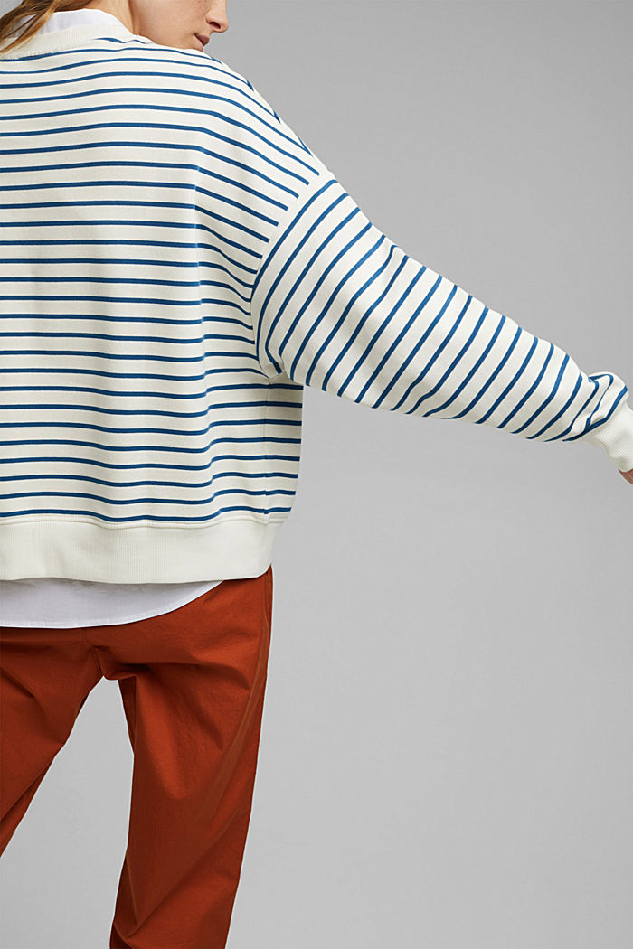 Striped sweatshirt made of 100% organic cotton, BRIGHT BLUE, detail image number 2