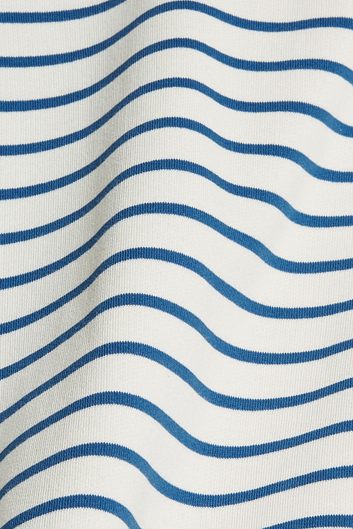 Striped sweatshirt made of 100% organic cotton, BRIGHT BLUE, detail image number 4