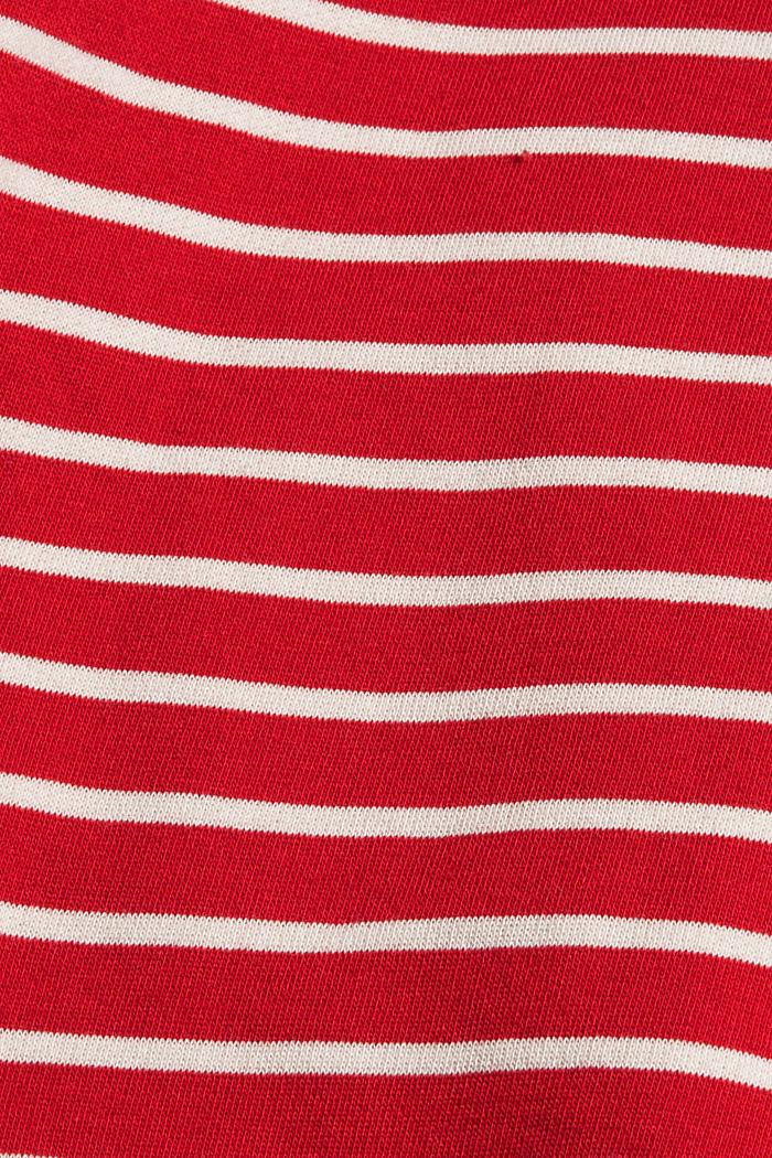 Gestreiftes Sweatshirt aus 100% Bio-Baumwolle, RED, detail image number 4