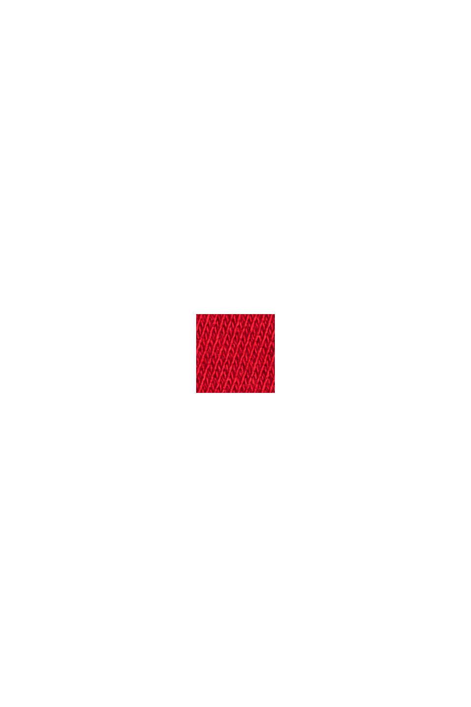 Sweat-shirt à rayures, 100% coton biologique, RED, swatch