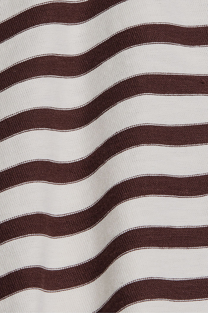 Striped T-shirt made of 100% organic cotton, RUST BROWN, detail image number 4