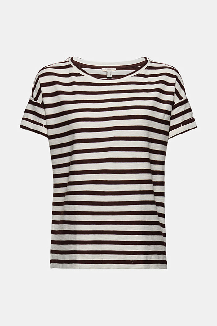 Striped T-shirt made of 100% organic cotton, RUST BROWN, detail image number 5