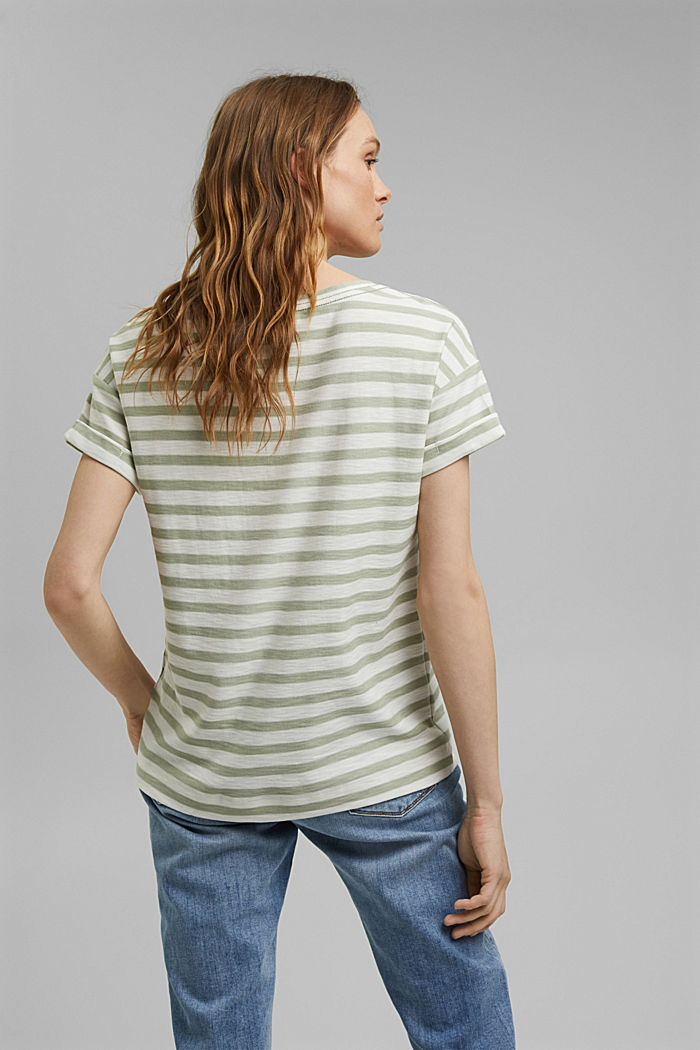 Striped T-shirt made of 100% organic cotton, PASTEL GREEN, detail image number 3