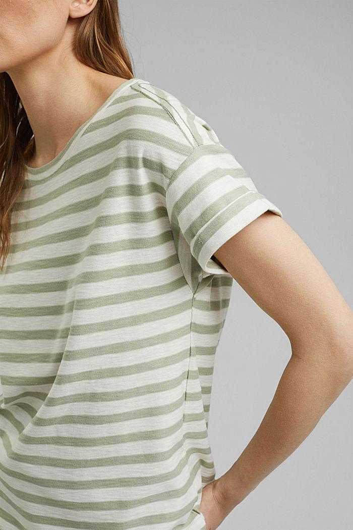 Striped T-shirt made of 100% organic cotton, PASTEL GREEN, detail image number 2