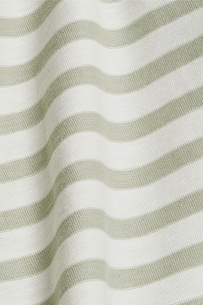 Striped T-shirt made of 100% organic cotton, PASTEL GREEN, detail image number 4