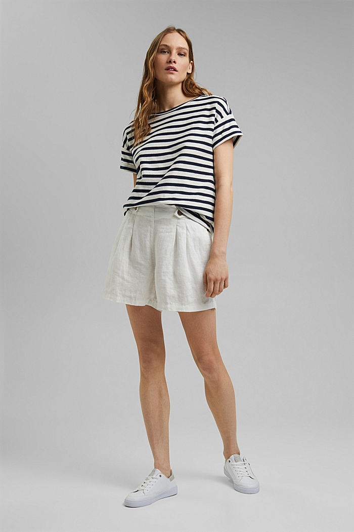 Striped T-shirt made of 100% organic cotton, NAVY, detail image number 1