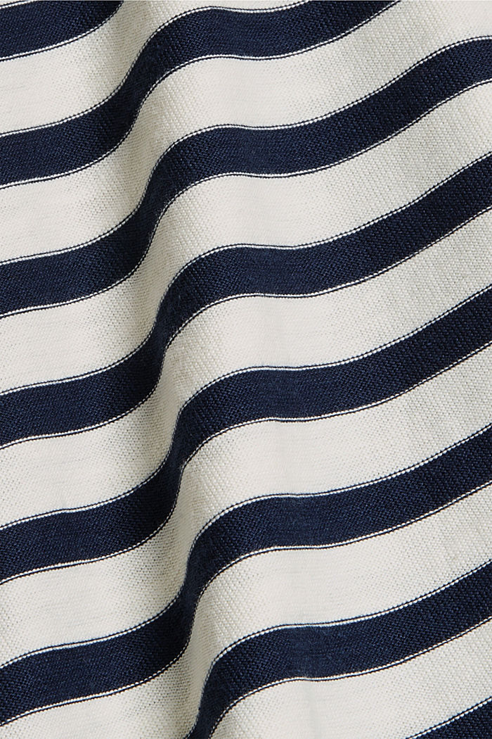 Striped T-shirt made of 100% organic cotton, NAVY, detail image number 4