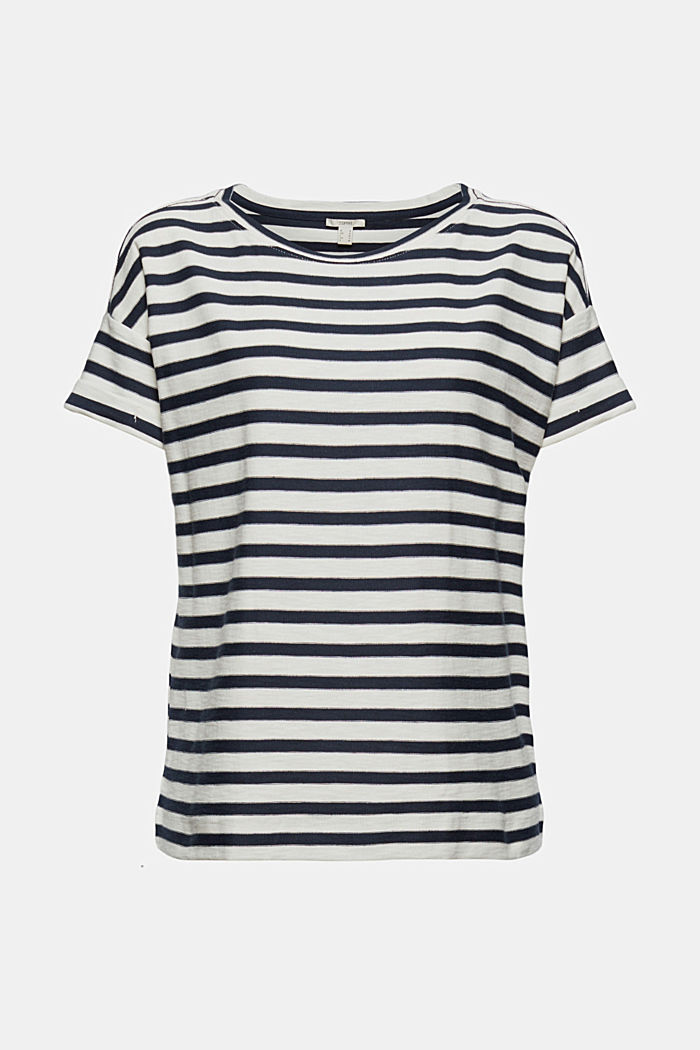 Striped T-shirt made of 100% organic cotton, NAVY, detail image number 5
