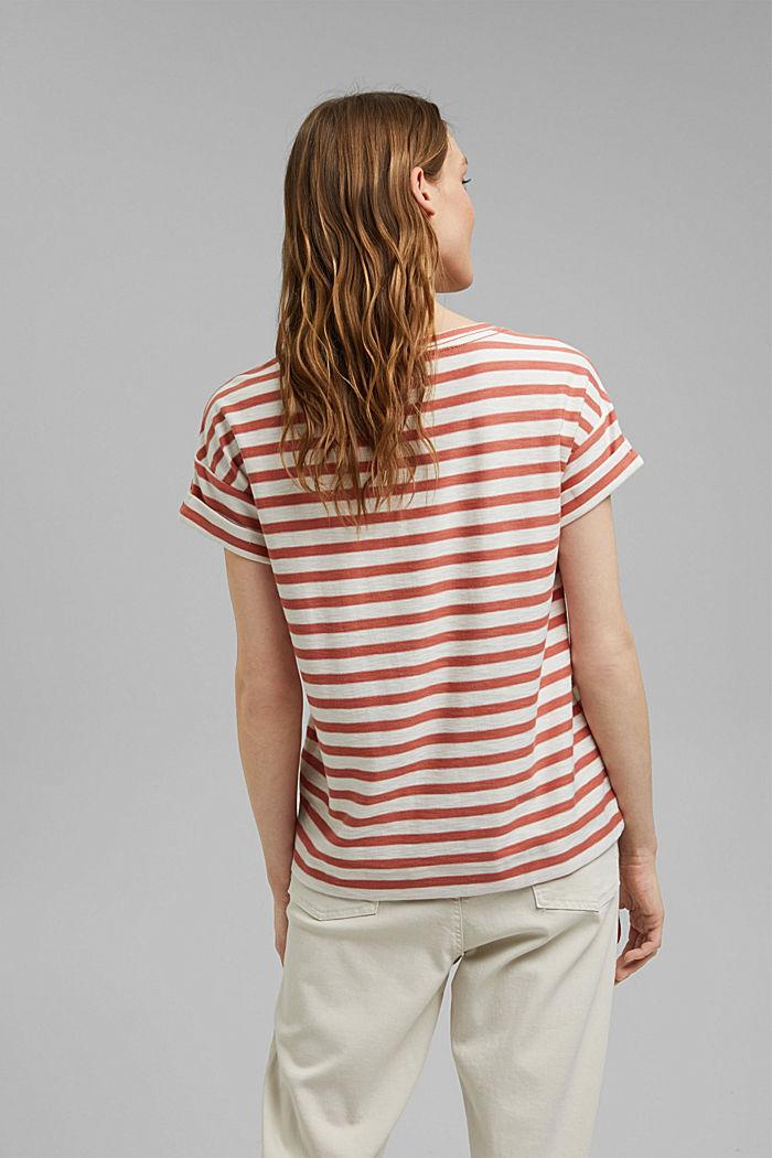 Pruhované tričko ze 100% bio bavlny, BLUSH, detail image number 3