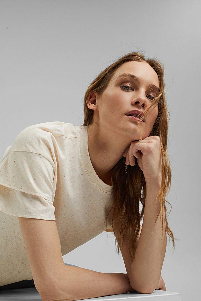 T-shirt à manches à effet superposé en coton biologique, OFF WHITE, detail image number 5