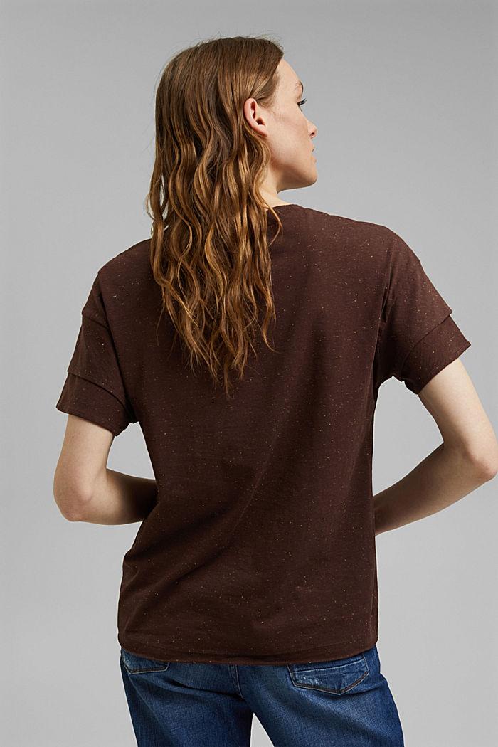 T-Shirt mit doppeltem Ärmel, Organic Cotton, RUST BROWN, detail image number 3