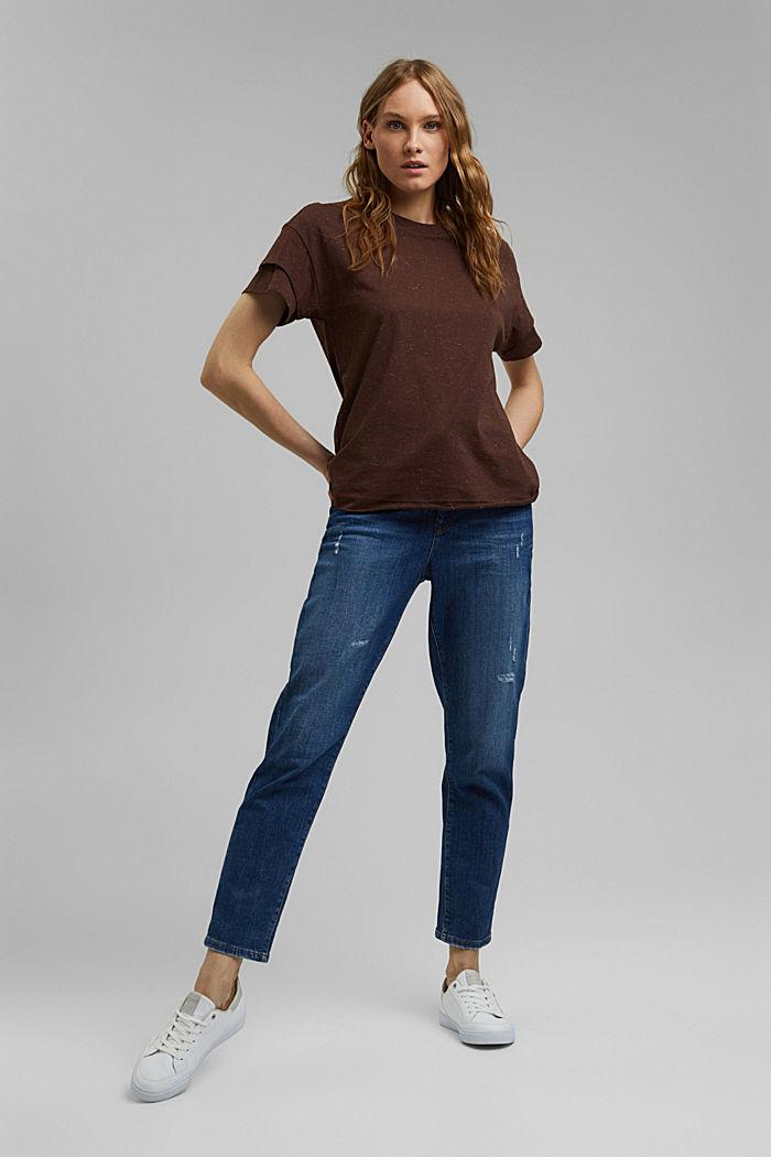T-Shirt mit doppeltem Ärmel, Organic Cotton, RUST BROWN, detail image number 1