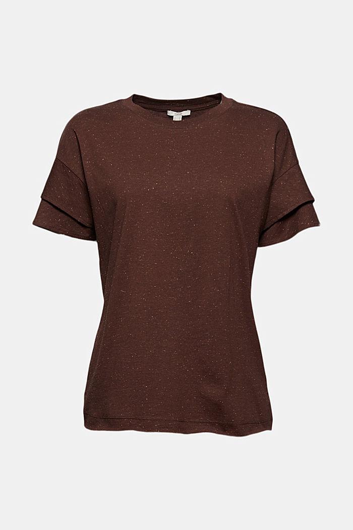 T-Shirt mit doppeltem Ärmel, Organic Cotton, RUST BROWN, detail image number 6