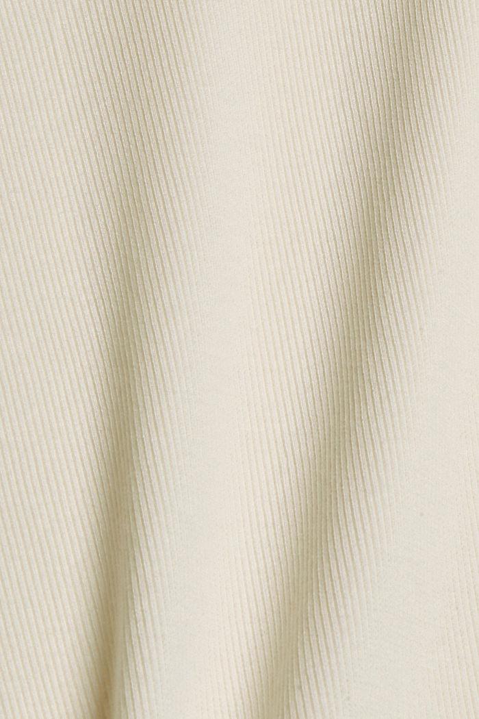 T-Shirt aus Ripp-Jersey mit Organic Cotton, OFF WHITE, detail image number 4