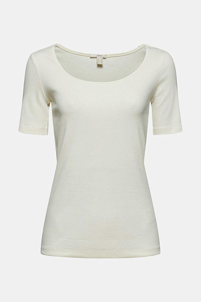 T-Shirt aus Ripp-Jersey mit Organic Cotton