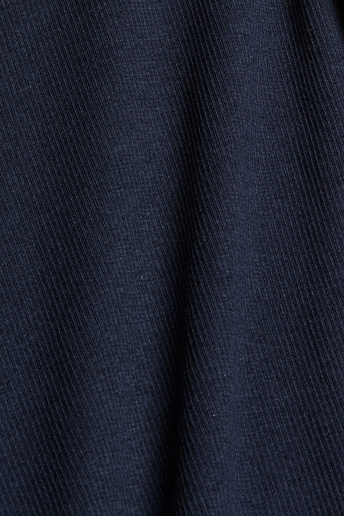 T-shirt made of ribbed jersey containing organic cotton, NAVY, detail image number 4