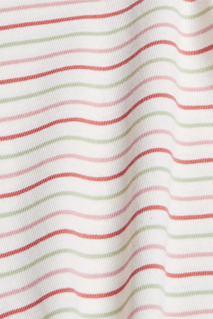 T-shirt van biologisch katoen met strepen, WHITE, detail image number 4