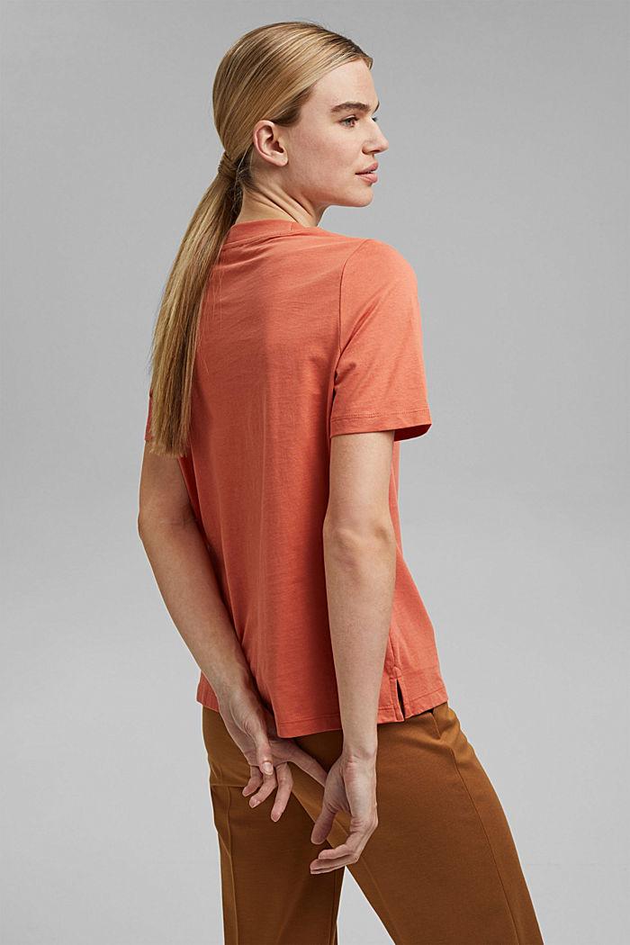 Koszulka z brokatowym nadrukiem z bawełny, BLUSH, detail image number 3