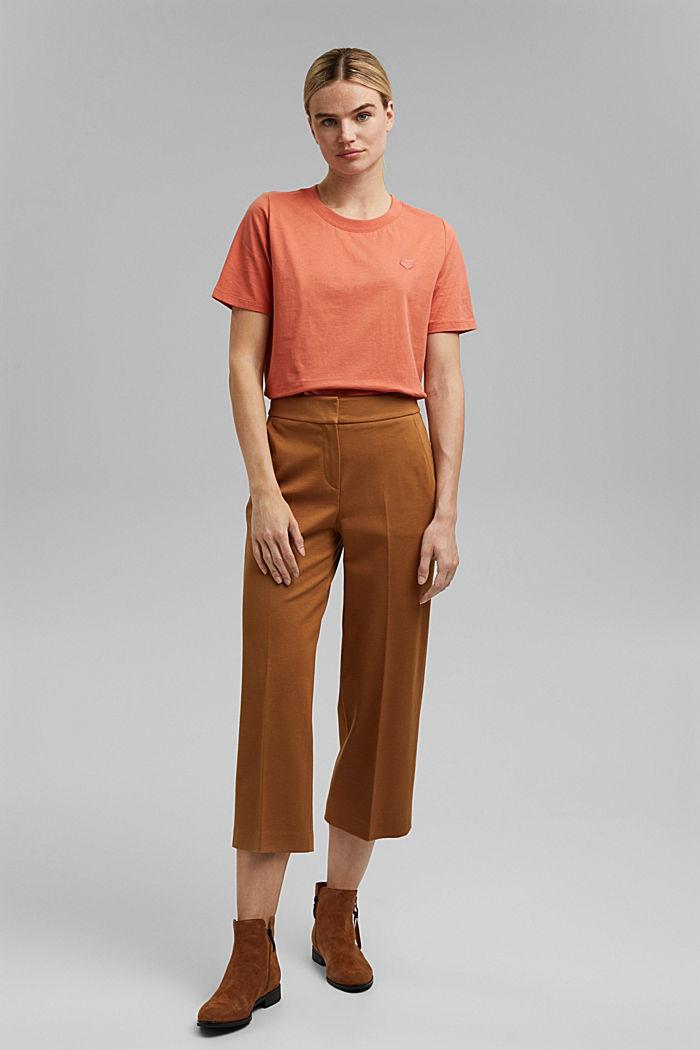 Koszulka z brokatowym nadrukiem z bawełny, BLUSH, detail image number 1