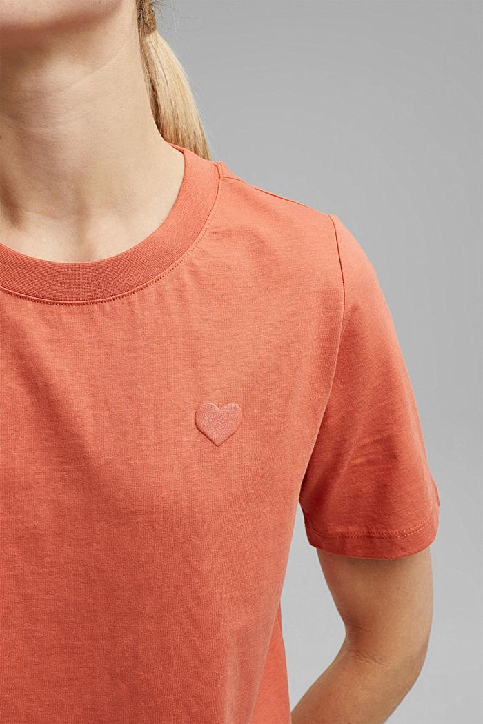 Koszulka z brokatowym nadrukiem z bawełny, BLUSH, detail image number 2