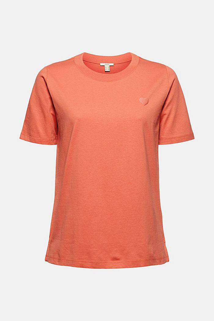 T-shirt i bomull med glittertryck