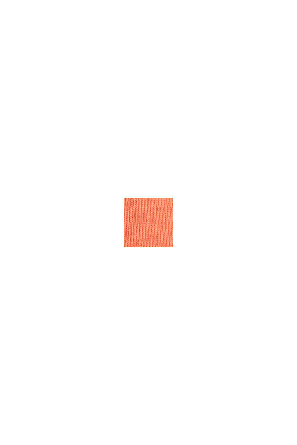 T-Shirt mit Glitzer-Print aus Baumwolle, BLUSH, swatch