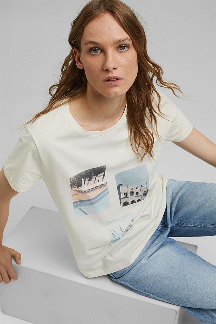 Camiseta con estampado de algodón ecológico
