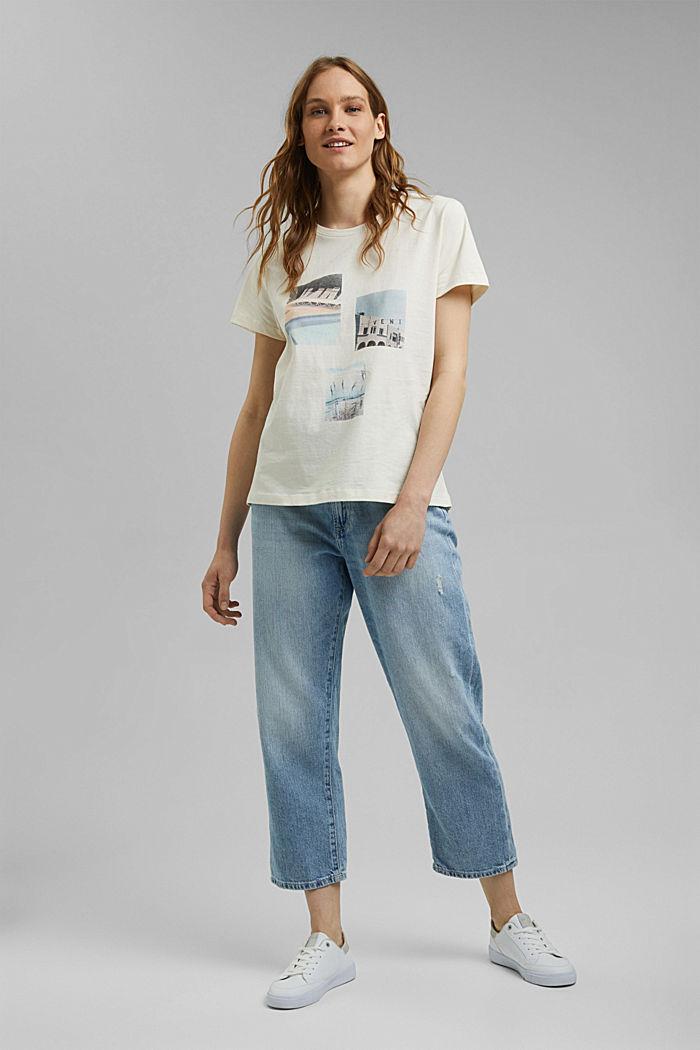 T-Shirt mit Print aus Organic Cotton, OFF WHITE, detail image number 6