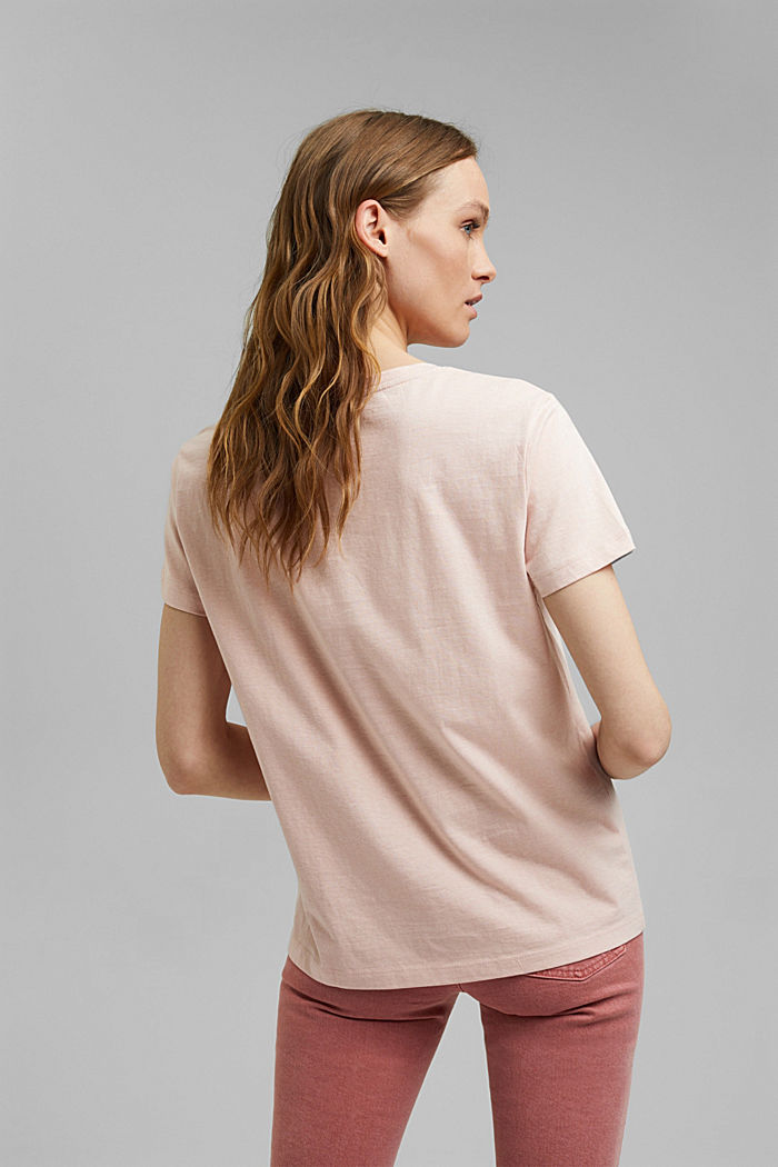 Printed T-shirt made of organic cotton, OLD PINK, detail image number 3