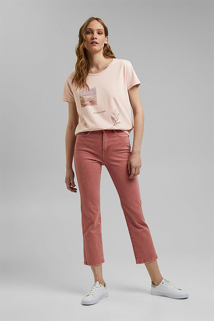 Printed T-shirt made of organic cotton, OLD PINK, detail image number 1